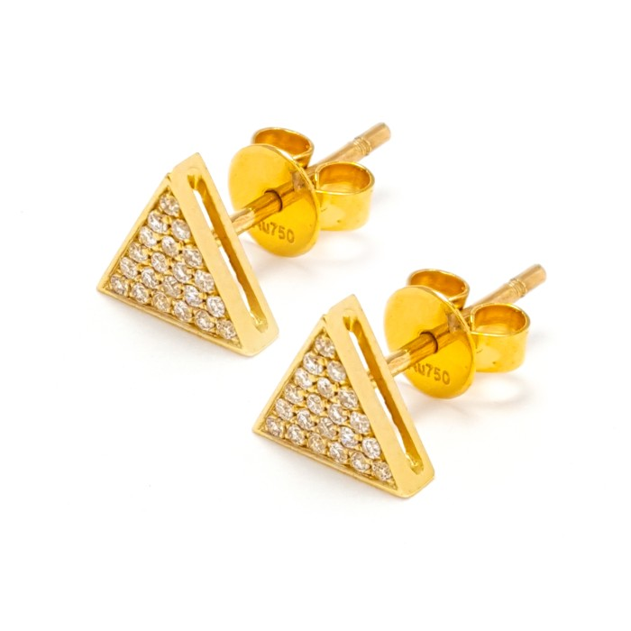 amazon jackets gold dp com flower yellow small karat jewelry earring earrings